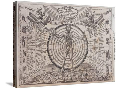 An Astrological Chart, 1646-Athanasius Kircher-Stretched Canvas Print