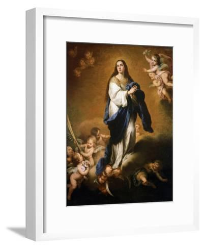 The Assumption of the Blessed Virgin Mary, Between 1645 and 1655-Bartolom? Esteban Murillo-Framed Art Print