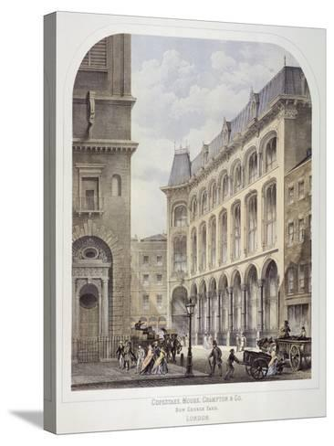 Bow Churchyard, London, C1860-Andrew Maclure-Stretched Canvas Print