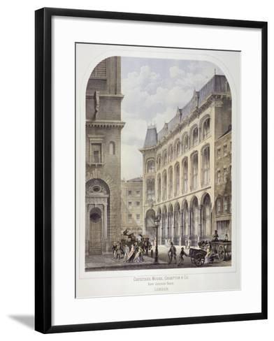Bow Churchyard, London, C1860-Andrew Maclure-Framed Art Print
