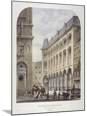Bow Churchyard, London, C1860-Andrew Maclure-Mounted Giclee Print
