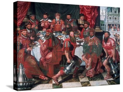 Banquet, 1574-Antoon Claeissens-Stretched Canvas Print