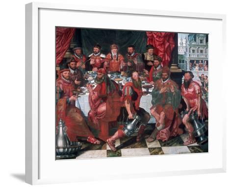 Banquet, 1574-Antoon Claeissens-Framed Art Print