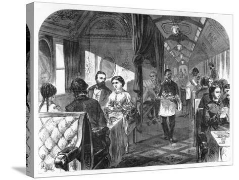 Palace Hotel Car, Union Pacific Railroad, C1870-AR Ward-Stretched Canvas Print