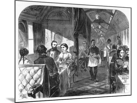 Palace Hotel Car, Union Pacific Railroad, C1870-AR Ward-Mounted Giclee Print