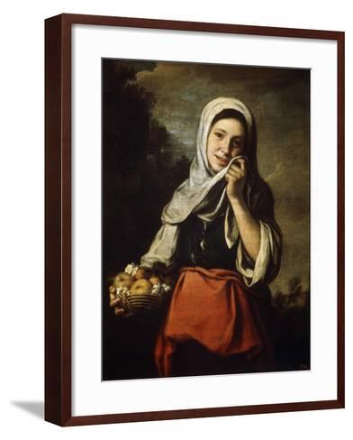 Girl Selling Fruit, C1650-C1660-Bartolom? Esteban Murillo-Framed Art Print