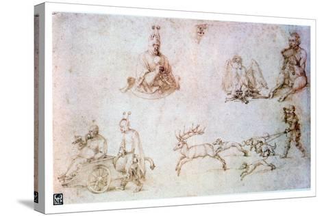 Red Chalk Study, C1500-Albrecht Durer-Stretched Canvas Print