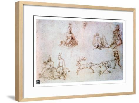 Red Chalk Study, C1500-Albrecht Durer-Framed Art Print
