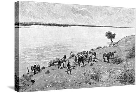 The Banks of the Rio Neuquen, Argentina, 1895-Alfred Paris-Stretched Canvas Print