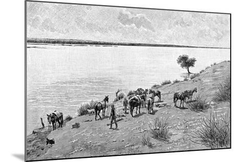 The Banks of the Rio Neuquen, Argentina, 1895-Alfred Paris-Mounted Giclee Print