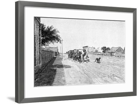 A Street in General Acha, Argentina, 1895-Alfred Paris-Framed Art Print