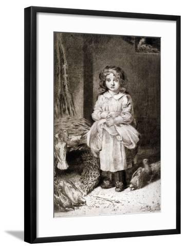 Small Girl Feeding Doves, C1888-Anna Lea Merritt-Framed Art Print