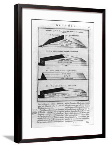 Description of the Ark, 1675-Athanasius Kircher-Framed Art Print