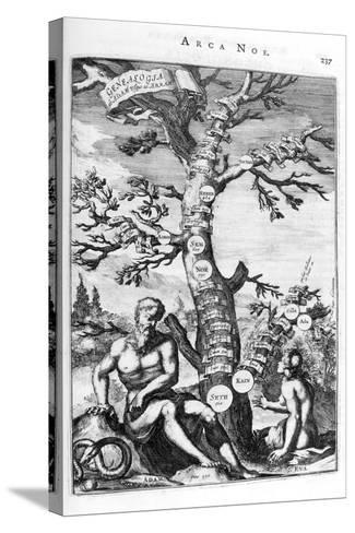 Genealogy Tree of Adam, 1675-Athanasius Kircher-Stretched Canvas Print