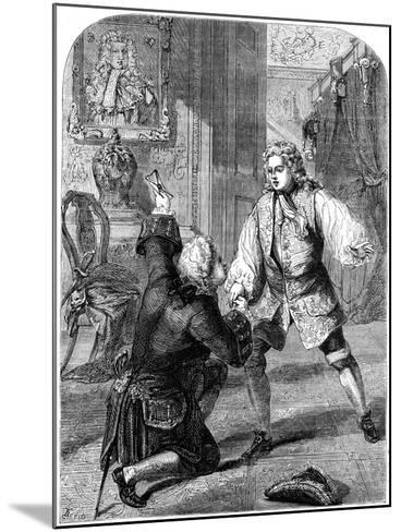 George II Receiving News of His Father's Death from Walpole, 1727- Beech-Mounted Giclee Print
