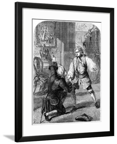 George II Receiving News of His Father's Death from Walpole, 1727- Beech-Framed Art Print