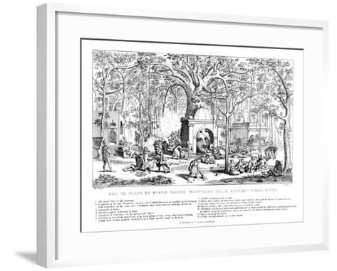 Hindu Fakirs Practising their Superstitious Rites, 19th Century-Bell-Framed Art Print