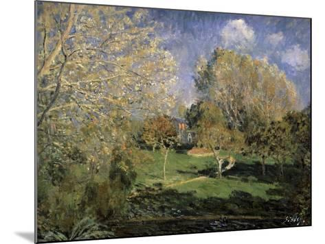 The Garden of Monsieur Hosched? in Montgeron, 1881-Alfred Sisley-Mounted Giclee Print