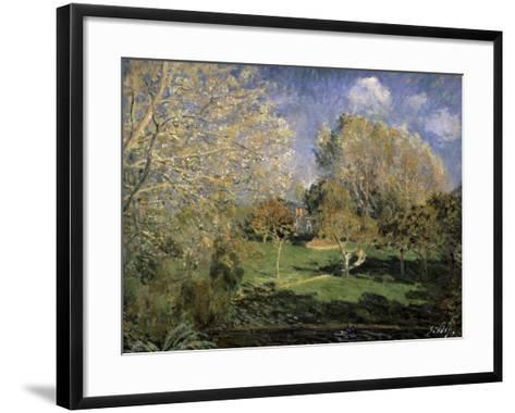 The Garden of Monsieur Hosched? in Montgeron, 1881-Alfred Sisley-Framed Art Print