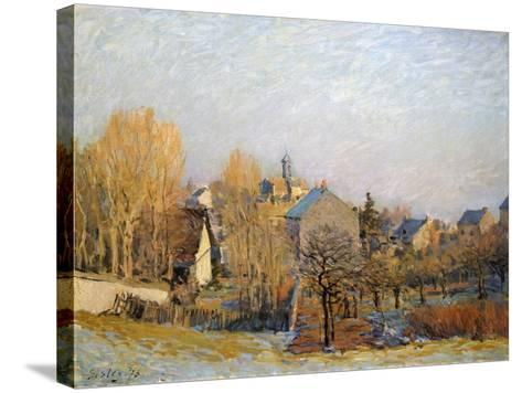 Frost in Louveciennes, 1873-Alfred Sisley-Stretched Canvas Print