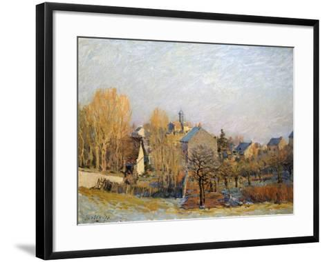Frost in Louveciennes, 1873-Alfred Sisley-Framed Art Print
