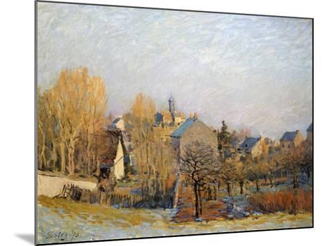 Frost in Louveciennes, 1873-Alfred Sisley-Mounted Giclee Print