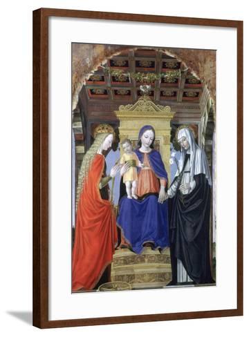 The Virgin and Child with Saint Catherine of Alexandria and Saint Catherine of Siena, C1490-Ambrogio Bergognone-Framed Art Print