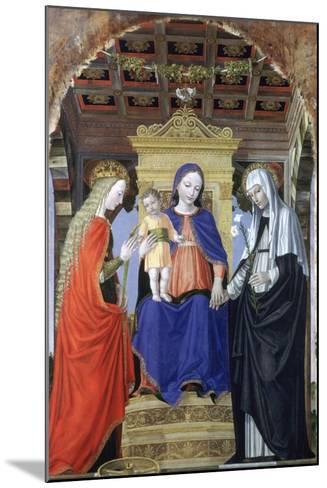 The Virgin and Child with Saint Catherine of Alexandria and Saint Catherine of Siena, C1490-Ambrogio Bergognone-Mounted Giclee Print