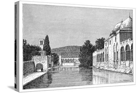 The Mosque and Fountain of Abraham, Ofra (At Tayyiba), West Bank, Israel, 1895-Armand Kohl-Stretched Canvas Print