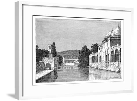 The Mosque and Fountain of Abraham, Ofra (At Tayyiba), West Bank, Israel, 1895-Armand Kohl-Framed Art Print