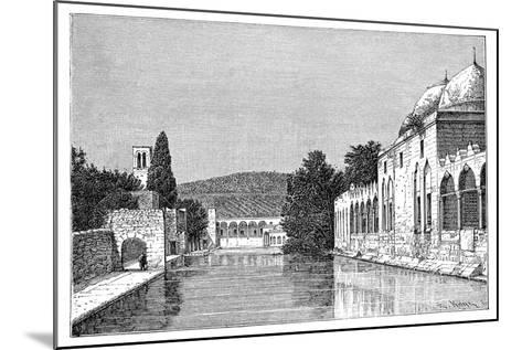 The Mosque and Fountain of Abraham, Ofra (At Tayyiba), West Bank, Israel, 1895-Armand Kohl-Mounted Giclee Print