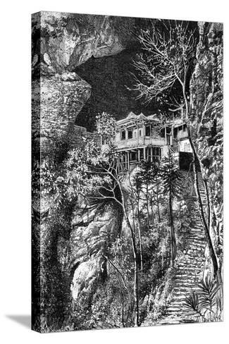 Buddhist Monastery, Yuen-Fu on the Min, South of Fuchu-Fu, C1890-Armand Kohl-Stretched Canvas Print