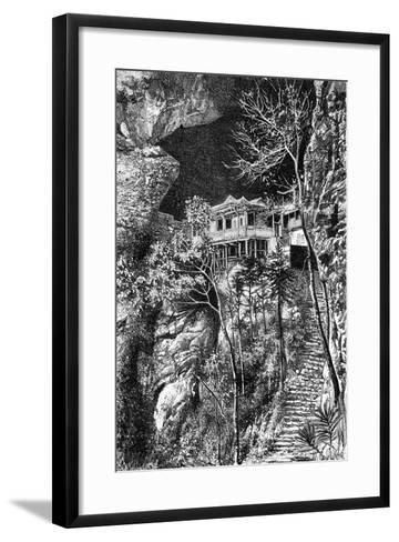 Buddhist Monastery, Yuen-Fu on the Min, South of Fuchu-Fu, C1890-Armand Kohl-Framed Art Print