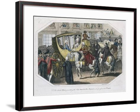 Temple Bar, London, 1804-AW Warren-Framed Art Print