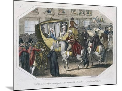 Temple Bar, London, 1804-AW Warren-Mounted Giclee Print