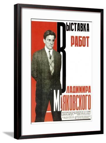 Poster for an Exhibition of Vladimir Mayakovsky's Works, 1931-Aleksey Gan-Framed Art Print