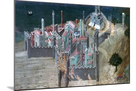View of a Coastal City, C1300-1348-Ambrogio Lorenzetti-Mounted Giclee Print
