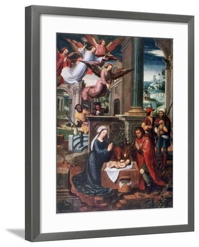 The Nativity, C1500-1550-Ambrosius Benson-Framed Art Print