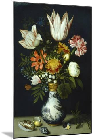 Flowers in a Porcelain Vase, C1600-Ambrosius Bosschaert-Mounted Giclee Print