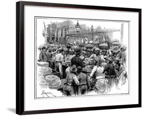 Ice Stall in the Market, Georgetown, Demerara, Guyana (British Guian), 1888-Amedee Forestier-Framed Art Print