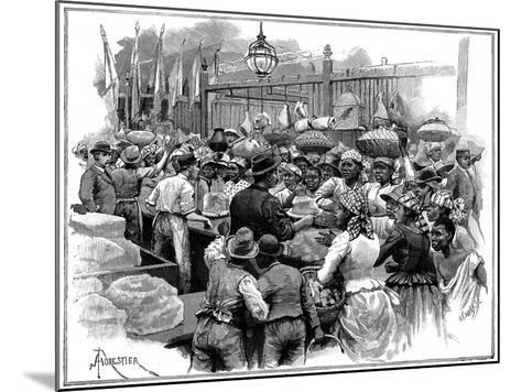 Ice Stall in the Market, Georgetown, Demerara, Guyana (British Guian), 1888-Amedee Forestier-Mounted Giclee Print