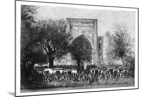 An Assembly before the Mosque in Bukhara, Uzbekistan, 1895-Armand Kohl-Mounted Giclee Print