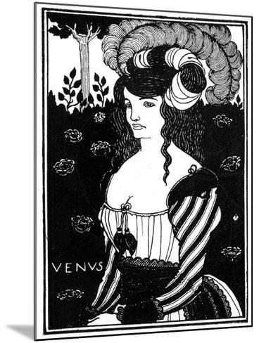 Portrait of a Woman, 1898-Aubrey Beardsley-Mounted Giclee Print