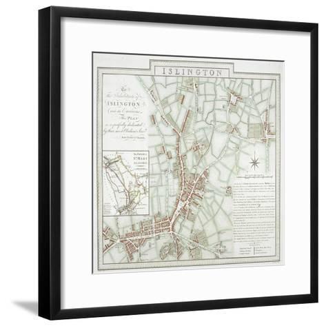 Map of the Parish of St Mary, Islington, London, 1793-Benjamin Baker-Framed Art Print