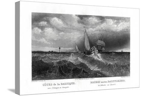 On the Coasts of the Baltic, 19th Century-Alex Will-Stretched Canvas Print