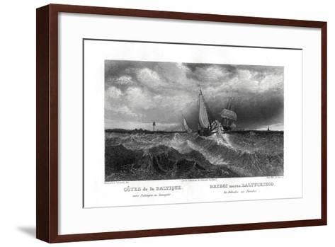 On the Coasts of the Baltic, 19th Century-Alex Will-Framed Art Print