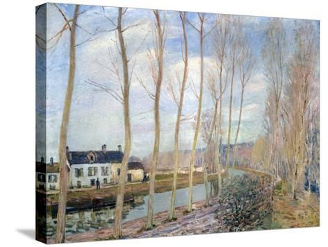 The Loing Canal, 1892-Alfred Sisley-Stretched Canvas Print