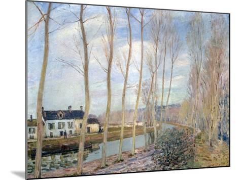 The Loing Canal, 1892-Alfred Sisley-Mounted Giclee Print