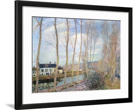 The Loing Canal, 1892-Alfred Sisley-Framed Art Print