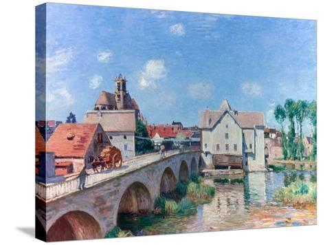 The Bridge at Moret, 1893-Alfred Sisley-Stretched Canvas Print